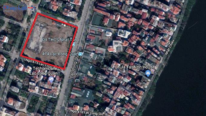 Lô đất D7 nằm tại phường Phú Thượng, quận Tây Hồ, TP Hà Nội