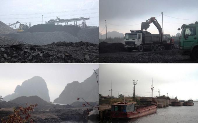 Hoạt động tuyển rửa, tuồn bán xít, than diễn ra rầm rộ tại khu vực phường Cẩm Thịnh.(Ảnh: P.V/Vietnam+)