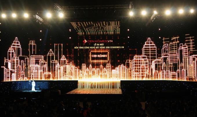 Lễ ra mắt nền tảng công nghệ Bất động sản Cenhomes.vn đã diễn ra trong 1 sân khấu hoành tráng.