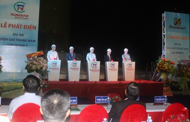 Lễ Phát điện Dự án điện gió Trung Nam giai đoạn 2.