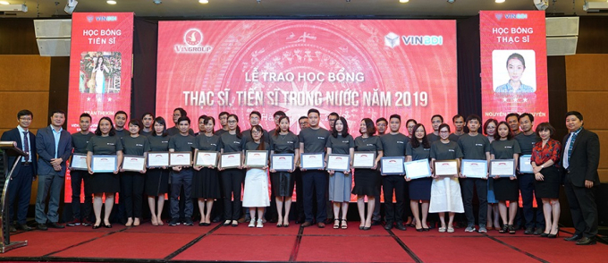 160 thạc sỹ và tiến sỹ xuất sắc trong lĩnh vực khoa học công nghệ, kỹ thuật và y dược đã giành được học bổng của Quỹ Đổi mới sáng tạo Vingroup (VINIF).