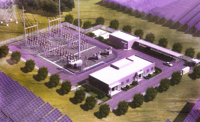 Phối cảnh nhà máy điện mặt trời Phước Ninh
