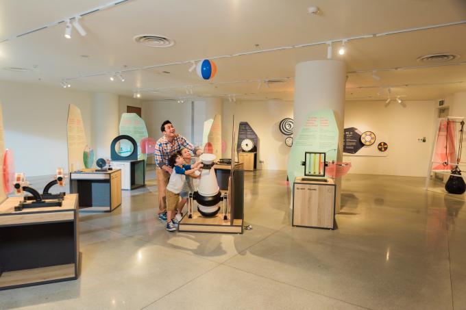 Bảo tàng khoa học nằm ngay khu trung tâm của resort