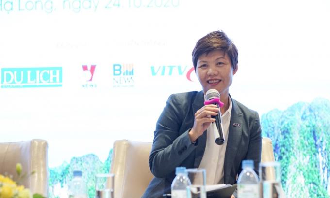 Bà Nguyễn Phúc Ngân, Phó Tổng giám đốc thường trực Công ty TNHH MTV Quản lý khách sạn và Khu nghỉ dưỡng FLC