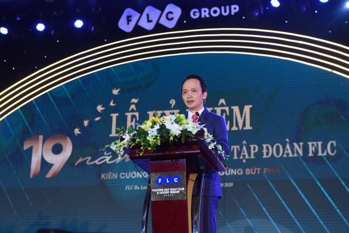 Chủ tịch FLC phát biểu tại sự kiện