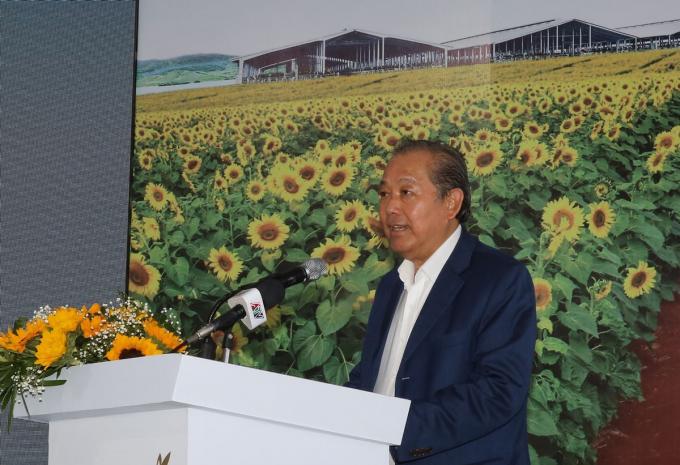 Phó Thủ tướng thường trực Trương Hòa Bình phát biểu tại lễ khởi công.