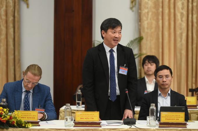 Ông Mai Hữu Tín, Chủ tịch Tập đoàn Kỹ nghệ gỗ Trường Thành cho rằng Chính phủ, Thủ tướng Chính phủ đã có những phản ứng kịp thời, phù hợp trước các diễn biến mới của thương mại quốc tế có ảnh hưởng tới Việt Nam. Ảnh: VGP/Quang Hiếu