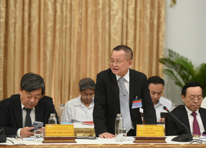 Ông Lê Văn Quang, Chủ tịch Tập đoàn Thủ sản Minh Phú tin tưởng Việt Nam sẽ trở thành cường quốc sản xuất-chế biến tôm số 1 thế giới. Ảnh: VGP/Quang Hiếu