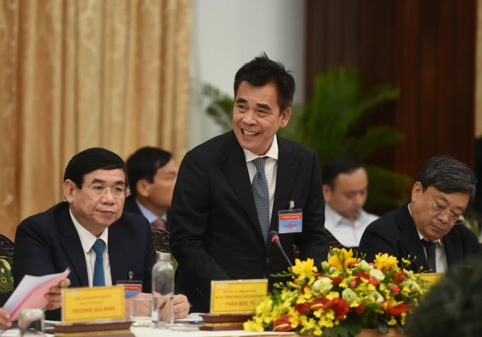 Ông Đinh Bá Thành, Chủ tịch điều hành DatVietVAC cho rằng lĩnh vực công nghiệp văn hóa và sáng tạo cần được ưu tiên, hỗ trợ với những chính sách rõ ràng và chỉ tiêu cụ thể. Ảnh: VGP/Quang Hiếu