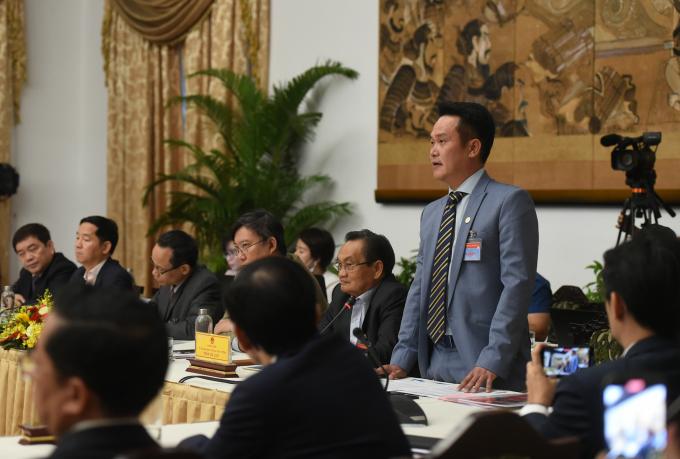 Ông Đặng Hồng Anh, Chủ tịch Hội Doanh nhân trẻ Việt Nam: Chính phủ, Thủ tướng và  lãnh đạo các bộ, ngành rất quan tâm phát triển doanh nghiệp khởi nghiệp. Ảnh: VGP/Quang Hiếu