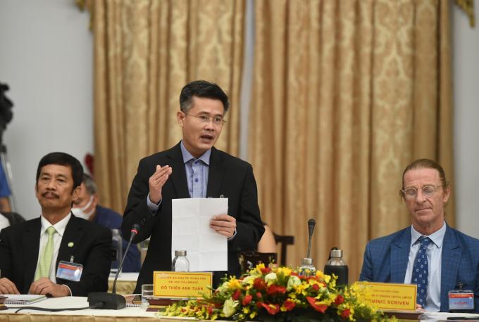 Giảng viên Chương trình giảng dạy kinh tế Fulbright, TS. Đỗ Thiên Anh Tuấn: Kinh tế Việt Nam phải do người Việt Nam làm chủ. Ảnh: VGP/Quang Hiếu