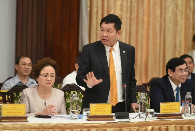 Ông Trương Gia Bình, Trưởng ban Nghiên cứu phát triển kinh tế tư nhân, Chủ tịch tập đoàn FPT.