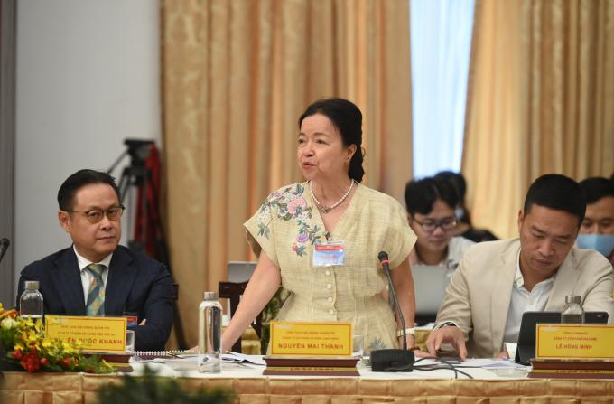 Bà Nguyễn Mai Thanh, Chủ tịch HĐQT Công ty cơ điện REE: Cần nhiều hơn chỉ số hạnh phúc bên cạnh chỉ số kinh tế. Ảnh: VGP/Quang Hiếu