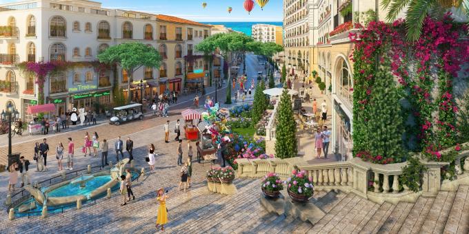 Kinh doanh dịch vụ tại shophouse The Center tại trung tâm thị trấn Địa Trung Hải sẽ đón trọn dòng khách đang đổ về Nam Phú Quốc.