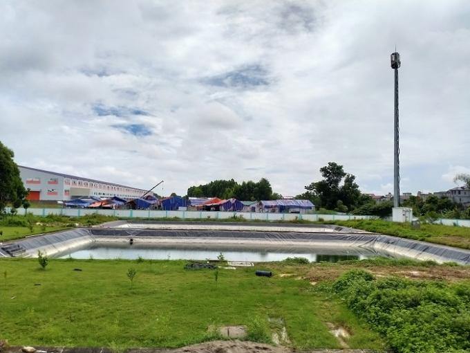 Hồ điều hòa tại KCN Song Khê - Nội Hoàng
