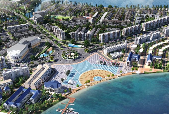 Châu Á được chuyên gia đánh giá sẽ là nơi trỗi dậy mạnh mẽ của xu hướng đô thị sinh thái thông minh. Ảnh phối cảnh không gian sống xanh hiện tại đô thị Aqua City của tập đoàn Novaland