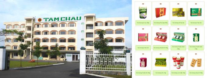 Công ty TNHH Tâm Châu được biết đến với các sản phẩm chè, cà phê...
