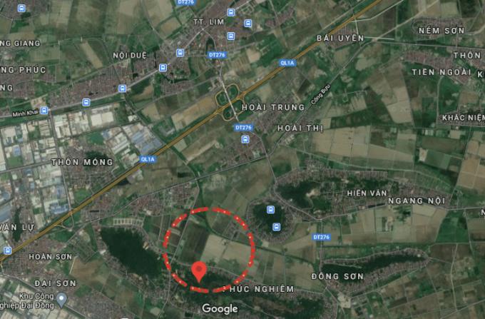 Vị trí thôn Chè, Liên Bão trên bản đồ