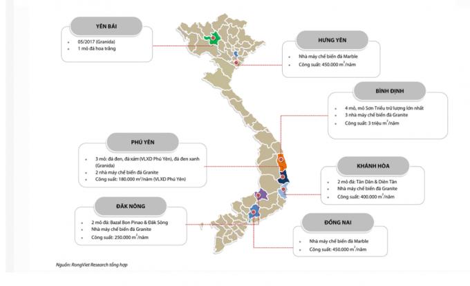 Công ty CP Phú Tài được biết đến với hoạt động khai thác đá ốp lát, trải dài trên cả nước.  *