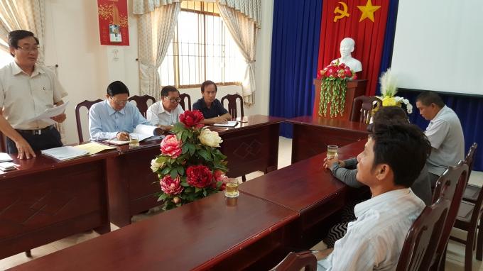 Đại diện Sở Y Tế đang trình bày kết luận của Bệnh viện Quân y 175khiến chị Vân tử vong.