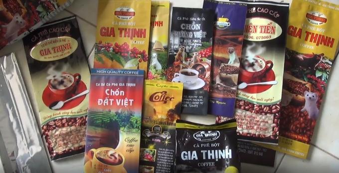 Cà phê thành phẩm được cơ sở này bán khắp các địa bàn lân cận