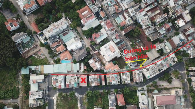 Người dân không phản đối việc mở rộng đường 16 nhưng yêu cầu không được lấy vào ranh đất dãy nhà D vì dãy nhà này đã nằm trong khu vực quy hoạch chi tiết 1/500, cư dân đã sinh sống ổn định nhiều năm
