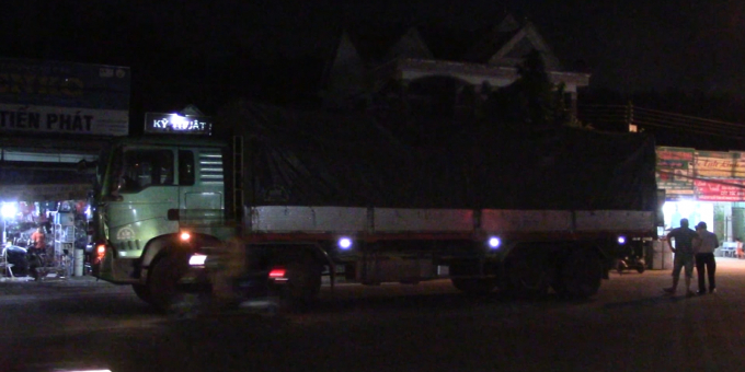 Chiếc xe tải tại hiện trường
