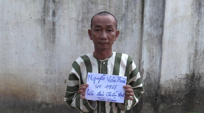 Đối tượng Nguyễn Văn Thành tại cơ quan công an.