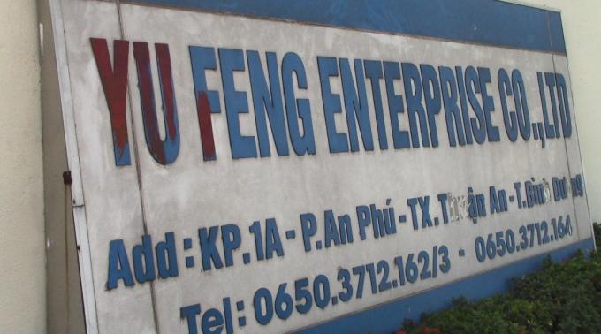 Công ty TNHH Yu Feng Enterprise nơi xảy ra vụ cháy (Ảnh: Hà Bắc)