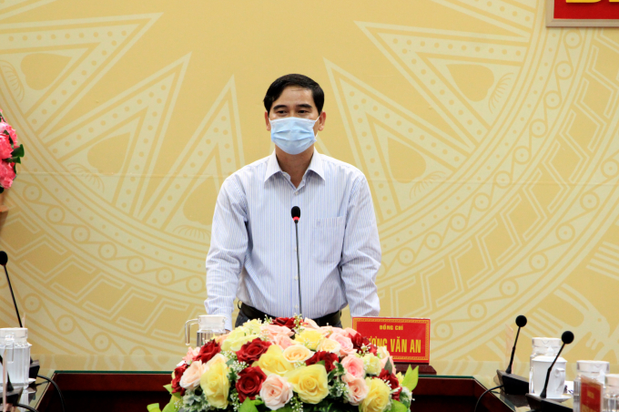 Bí thư Tỉnh ủy - Dương Văn An phát biểu tại cuộc họp