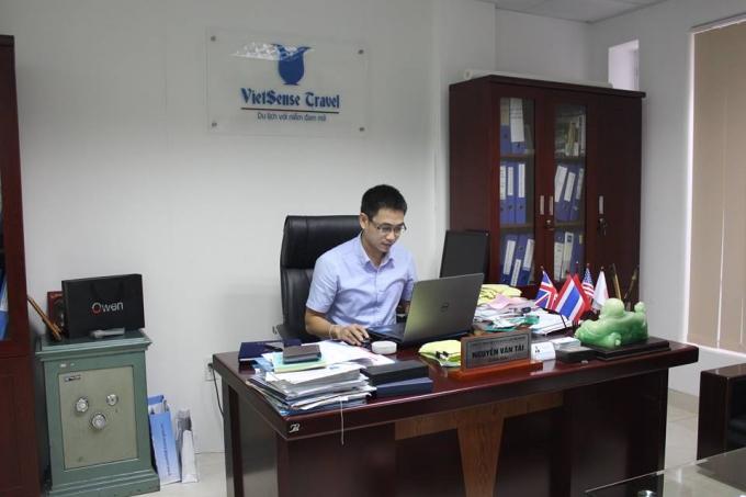 Ông Nguyễn Văn Tài, giám đốc Công ty du lịch Vietsense (Ảnh: Thanh Huyền)