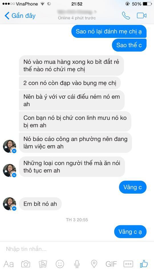 Đoạn nói chuyện được cho là Linh Miu gây sự trước (Ảnh Internet)