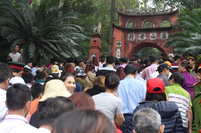 Mặc dù lượng du khách đổ về ngày càng đông, nhưng không xảy ra tình trạng