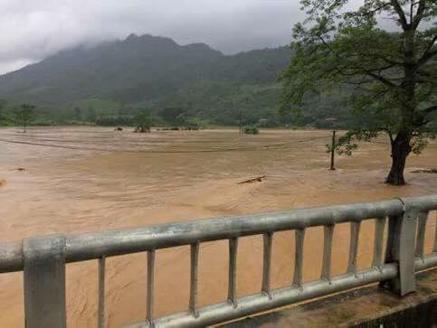 Mưa lớn kéo dài, cùng với đập thủy điện Hòa Bình xả lũ 8 cửa xả đáy khiến một số địa phương trên địa bàn tỉnh Phú Thọ ngập cục bộ.