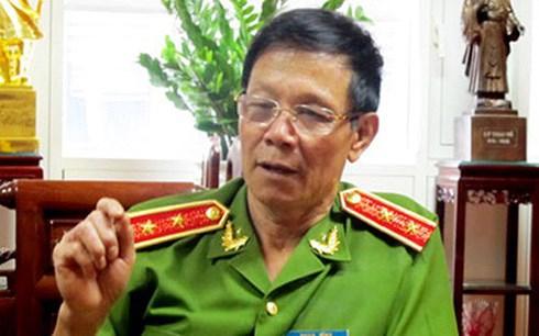 Công an tỉnh Phú Thọ đang làm việc với Trung Tướng Phan Văn Vĩnh. (Ảnh: internet)