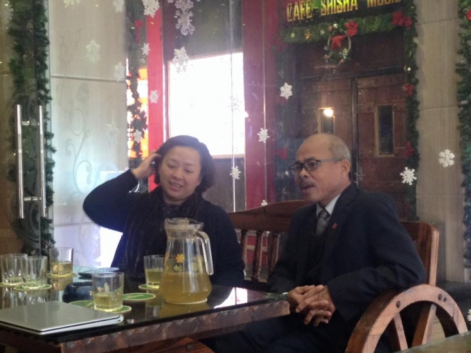 Nghệ sỹ Hán Văn Tình chia sẻ với phóng viên trước khi họp báo