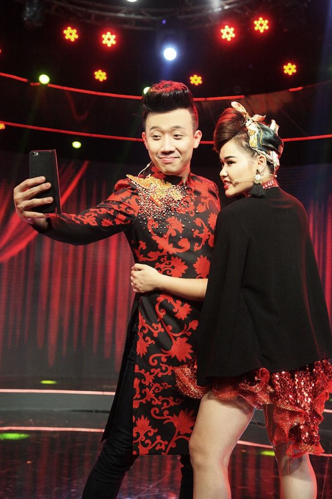 Trấn Thành và Huỳnh Miên.