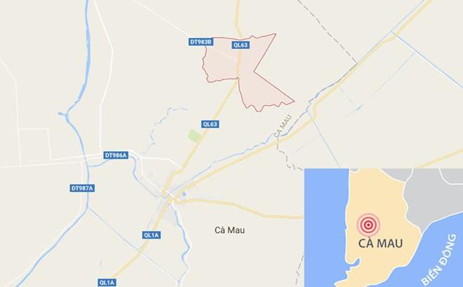 Vụ việc xảy ra ở xã Tân Lộc, huyện Thới Bình (Cà Mau). Ảnh:Google Maps.