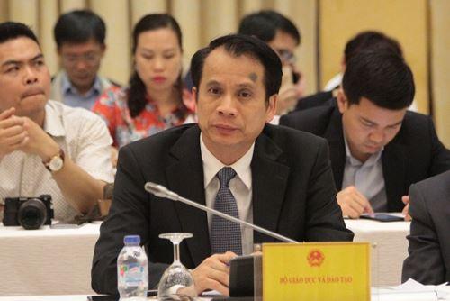 Thứ trưởng Bộ Giáo dục và Đào tạo Phạm Mạnh Hùng (ảnh Trinh Phúc).