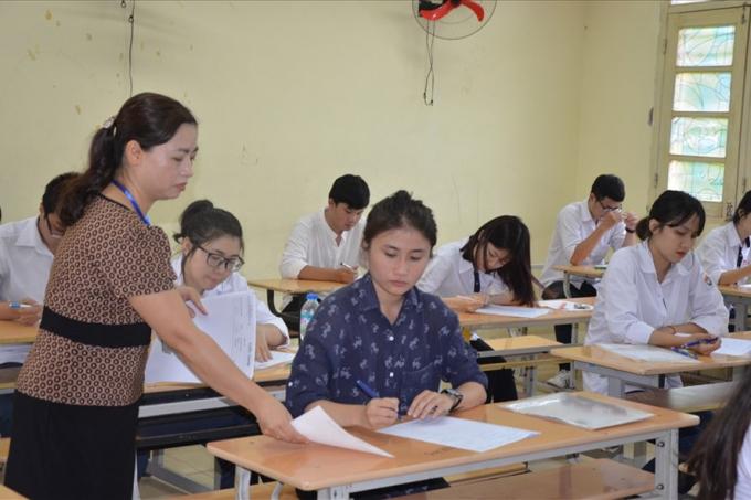 Thi THPT quốc gia 2017. Ảnh: Huyên Nguyễn