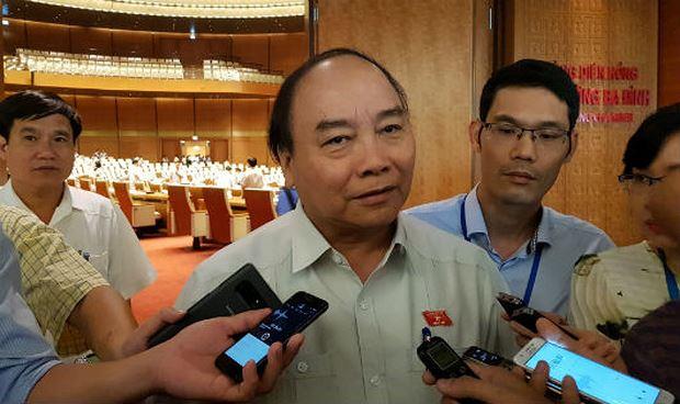 Thủ tướng trả lời phỏng vấn bên hành lang QH sáng nay.