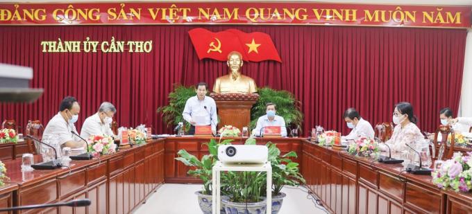 Le Quang Manh phat bieu - anh Bao Can Tho