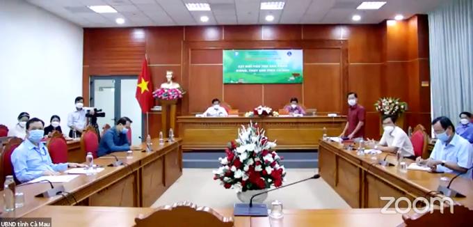Quang Cảnh Trực tuyến tại điểm cầu tỉnh Cà Mau.