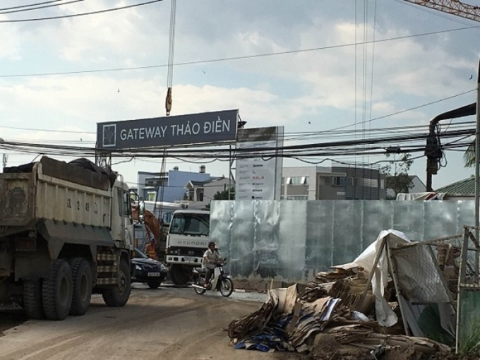 Dự án Gateway Thảo Điền đứng trước nguy cơ không còn đất mặt tiền như quảng cáo.