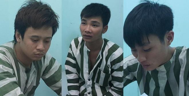 Các bị cáo: Sơn, Ninh, Tiệp.