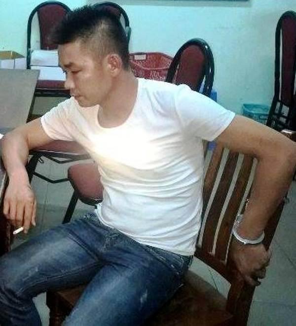Nguyễn Văn Hiền lúc bị bắt giữ.