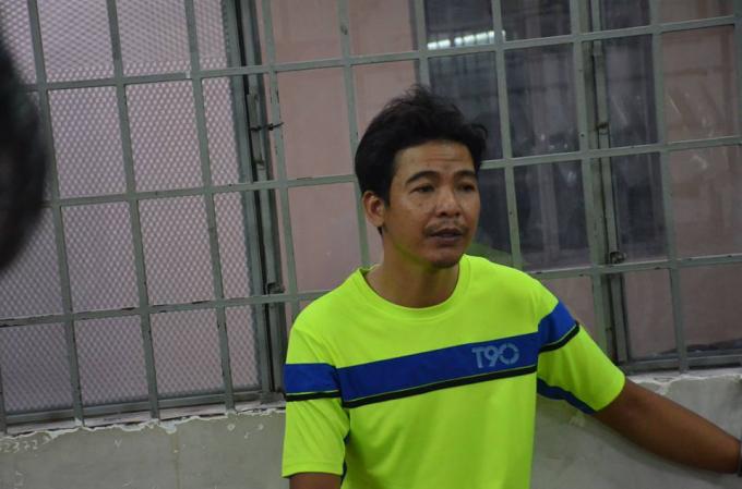 Tạ Văn Đúng bị bắt giữ sau vài giờ gây án.