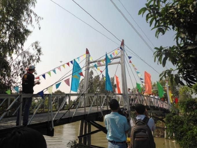 Cây cầu thép dây văng được khánh thành ở Vĩnh Thạnh – Cần Thơ.