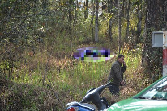Hiện trường phát hiện thi thể nạn nhân.