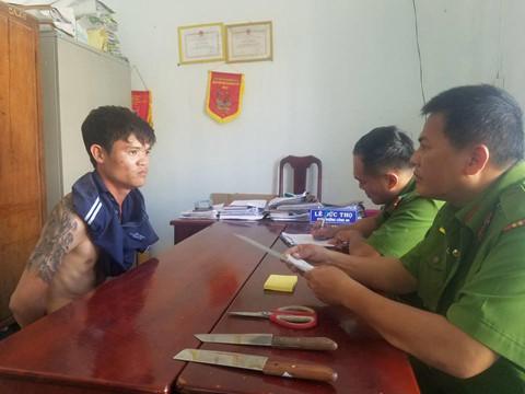 Nguyễn Văn Nhân tại cơ quan công an. ( Ảnh: Nguyễn Chung)